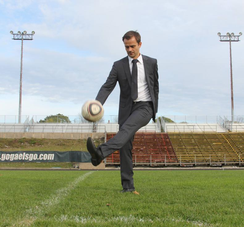 Matthias Spitzmuller, an assistant professor of Organizational Behaviour at Queen's School of Business, Insight, knows there are many lessons that can be learned from soccer's approach to team dynamics, conflict resolution, and strategy. (Photo by Claire Bouvier)